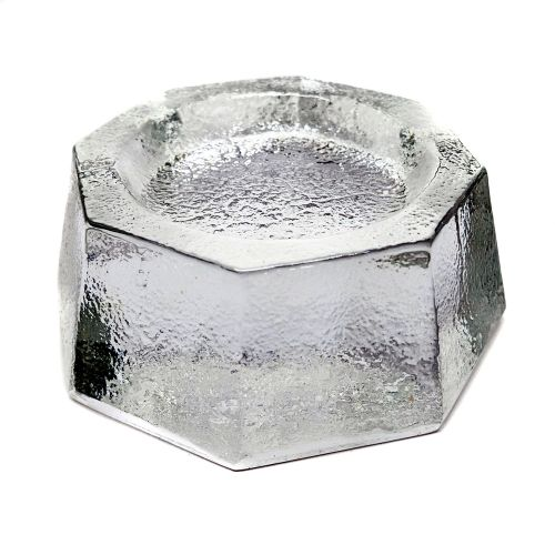 Piano coaster - glass - angular - Ø80mm