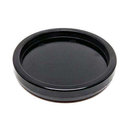 Kunststoffuntersetzer - schwarz - Ø70mm