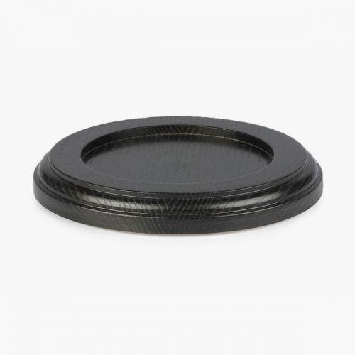 Untersetzer - Holz - schwarz - Ø138mm