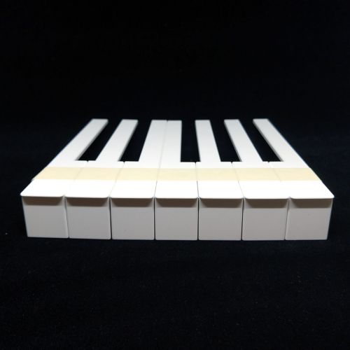 Piano key pad set with fronts - white - 50mm