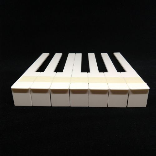 Piano key tops - with fronts - creme - 50mm