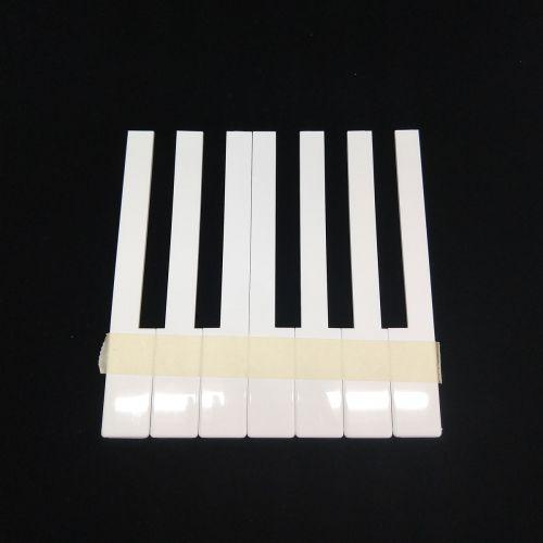 Klaviertastenbelag ohne Fronten - weiß - 50mm