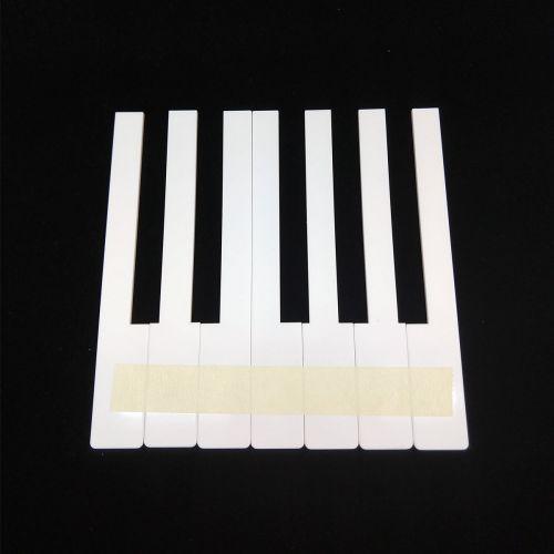 Klaviertastenbelag ohne Fronten - weiß - 52mm