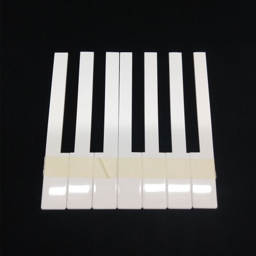Piano key tops - without fronts - creme - 50mm