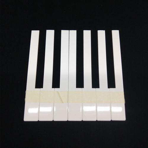 Klaviertastenbelag ohne Fronten - creme - 50mm