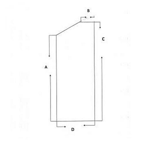 Decke - Digitalpiano -  Skai schwarz - Innenvlies - 136 cm