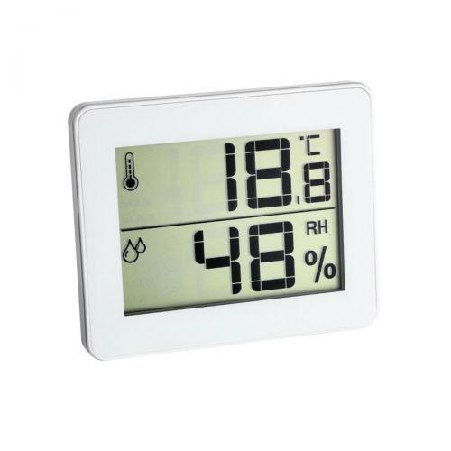 Elektronisches Hygro-/Thermometer Slim - weiß