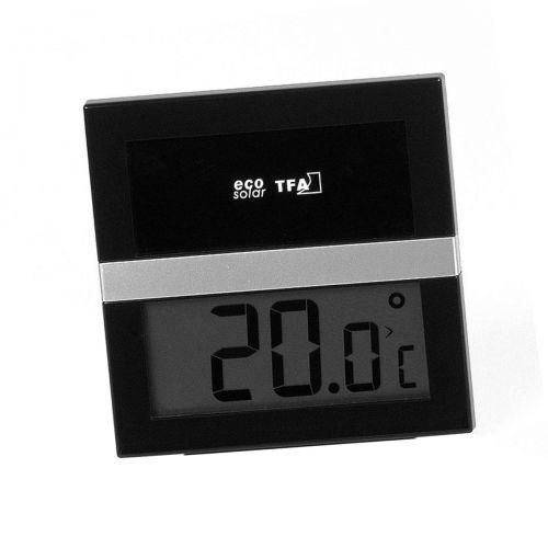 Eco-Solar Hygro-/Thermometer - schwarz