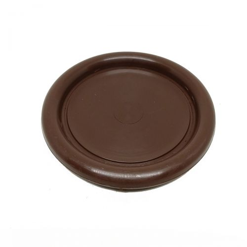 Piano castor cup - plastic - brown - Ø65mm