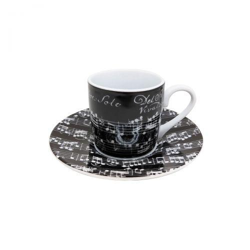 Espressotasse - Café Cantata - schwarz