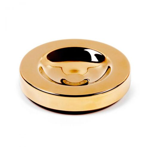 JK - Untersetzer - schalldämmend - vergoldet - Ø140mm