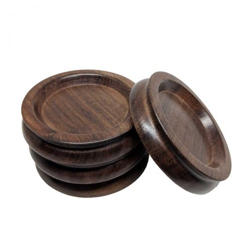 Coaster set for piano - wood - Ø94mm