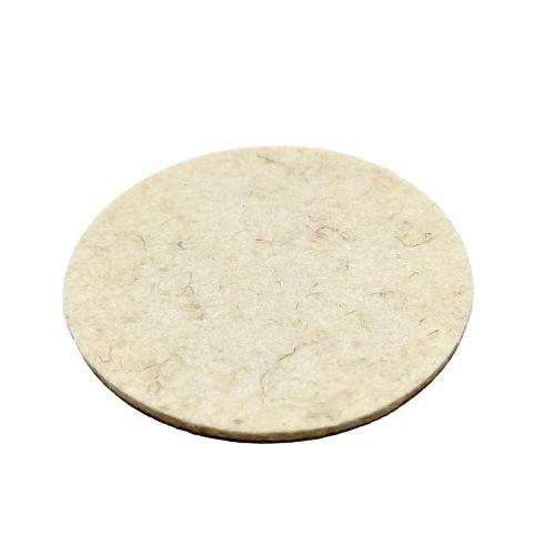 Merino felt pad - Ø77mm x 3mm