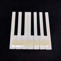 Piano key tops - without fronts - creme - 52mm