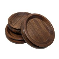 Coaster set for grand piano - wood - Ø127mm